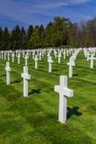 Cimetière commémoratif américain de la deuxième guerre mondiale au Luxembourg photographie stock libre de droits