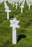 Cimetière commémoratif américain de la deuxième guerre mondiale au Luxembourg images libres de droits