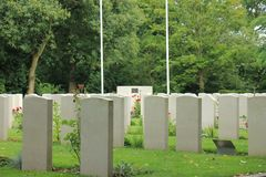 Cimetière commémoratif de la deuxième guerre mondiale photo stock