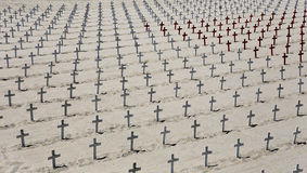 Cimetière commémoratif sur la plage de Santa Monica, la Californie Photographie stock libre de droits
