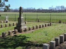 Cimetière confédéré de champ de bataille Photographie stock libre de droits