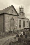 Cimetière d'église photographie stock
