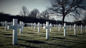 Cimetière d'Américain de la deuxième guerre mondiale Images libres de droits