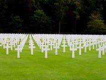 Cimetière d'Américain du luxembourgeois Photographie stock libre de droits