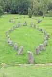 Cimetière d'Anundshog, pierre de rune photo libre de droits