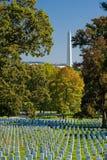Cimetière d'Arlington image libre de droits