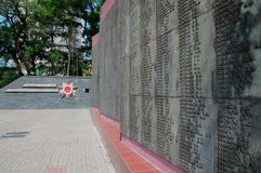 Cimetière d'armée rouge images libres de droits
