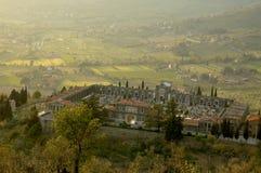 Cimetière dans Cortona, Italie Photos libres de droits