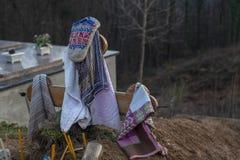 Cimetière dans un village minuscule image stock