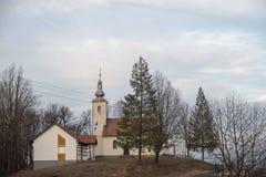 Cimetière dans un village minuscule photo stock