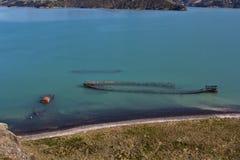Cimetière de bateau Photo libre de droits