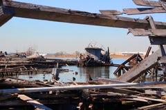 Cimetière de bateau Photos stock