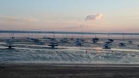 Cimetière de bateau de Southend-Sur-mer Images libres de droits