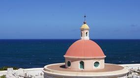 Cimetière de chapelle à vieux San Juan. Photographie stock