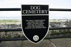 Cimetière de chien au château d'Edimbourg Photographie stock