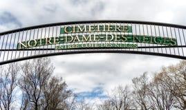 Cimetière de DES Neiges de Notre Dame photo stock
