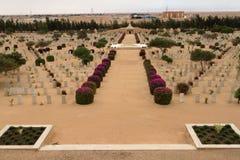 Cimetière de guerre de Commonwealth chez El-Alamein photographie stock