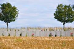 Cimetière de guerre - la Somme - France image stock