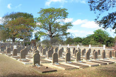 Cimetière de juif, St Martin, Îles Maurice photos stock