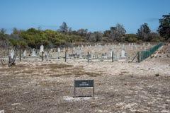 Cimetière de lépreux d'île de Robben Images libres de droits
