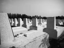 Cimetière de marbre chrétien images stock