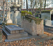 Cimetière de Montmartre image libre de droits