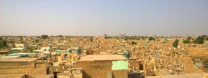 Cimetière de Najaf image libre de droits