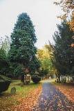 Cimetière de Newark, route de Londres Nottinghamshire R-U en automne Images libres de droits