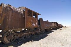Cimetière de train dans Uyuni, Bolivie Photos stock