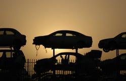 Cimetière de véhicules Image libre de droits