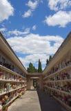 Cimetière de Verano, tombes chrétiennes Photographie stock