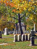 Cimetière en automne 16 Image libre de droits