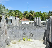 Cimetière en Maldives Photographie stock