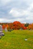 Cimetière en Pennsylvanie Photographie stock