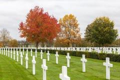 Cimetière et mémorial américains de Cambridge Photo libre de droits