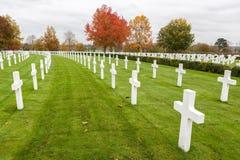 Cimetière et mémorial américains de Cambridge Images libres de droits