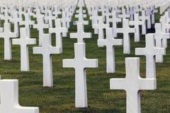 Cimetière et mémorial américains de la Normandie dans le sur Mer de Saint Laurent images libres de droits