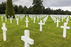 Cimetière et mémorial américains de la Normandie dans le sur Mer de Saint Laurent image libre de droits