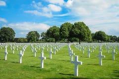 Cimetière et mémorial américains néerlandais Image libre de droits