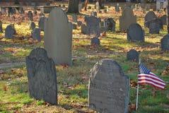 Cimetière historique à Boston Photos libres de droits