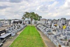 Cimetière historique dans le secteur de jardin de la Nouvelle-Orléans photo libre de droits