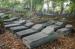 Cimetière juif dans Liepaja, Lettonie Photographie stock libre de droits