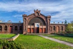 Cimetière juif historique dans la ville de Lodz, Pologne Image libre de droits