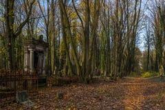 Cimetière juif historique dans la ville de Lodz, Pologne Photographie stock libre de droits