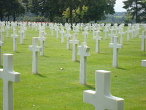 Cimetière militaire Images libres de droits
