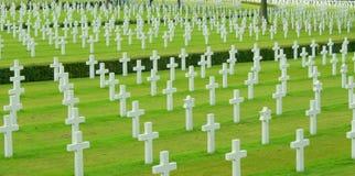 Cimetière militaire Photographie stock libre de droits