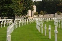 Cimetière militaire américain l'angleterre Images libres de droits
