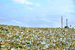 Cimetière musulman à Rabat, Maroc 05 05 2016 Photo stock