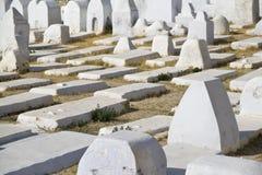 Cimetière musulman de Kairouan, Tunisie Photographie stock libre de droits