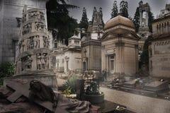 Cimetière - pierres tombales Photos libres de droits